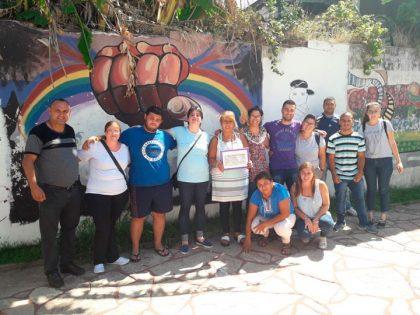 La Juventud Peronista efectuó un reconocimiento a la Asociación Arco Iris