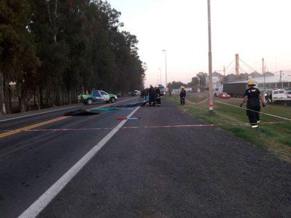 Una persona se arrojó al paso de un camión lechero en Nueve de Julio