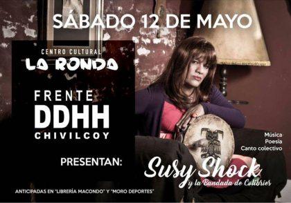 Susy Shock se presenta por primera vez en Chivilcoy