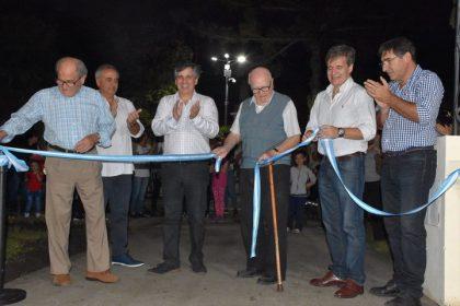 Se inauguraron las obras de puesta en valor de la Plaza Colón