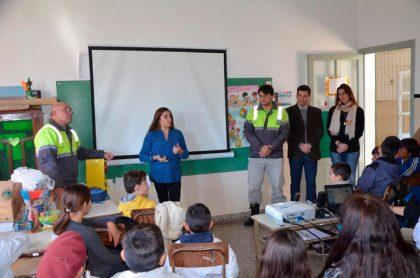 Jornada de prevención y concientización vial para los alumnos Palemón Huergo