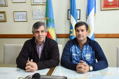 Pablo Álvarez fue saludado por el intendente previo a los Juegos ODESUR 2018