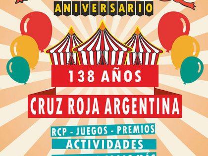 """Cruz Roja Argentina celebra sus 138 años con una kermesse en la plaza seca """"La Perla del Oeste"""""""